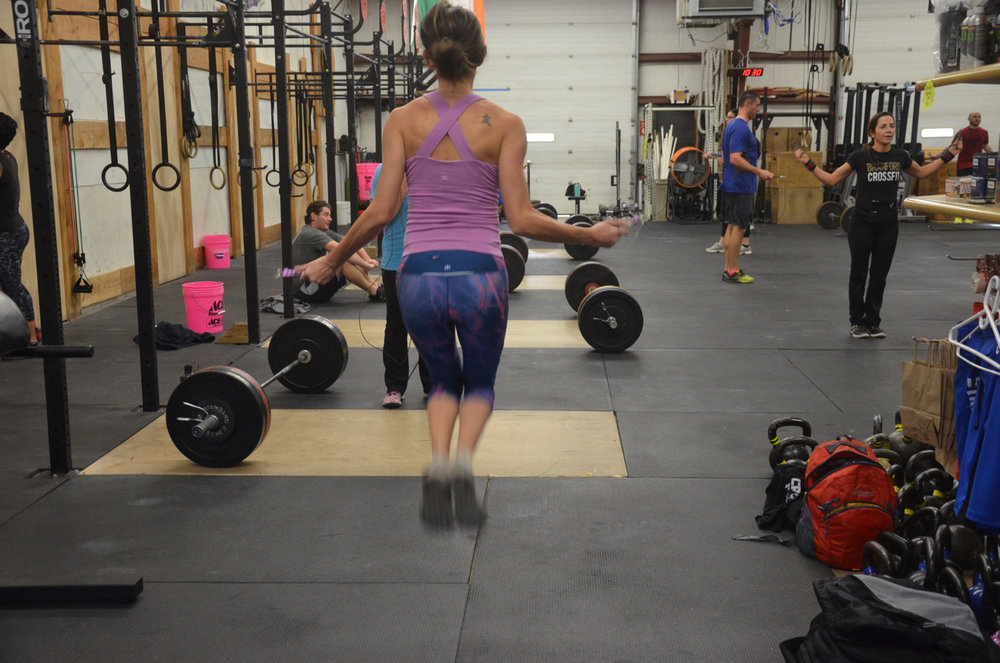 Danielle looking strong on her double unders.