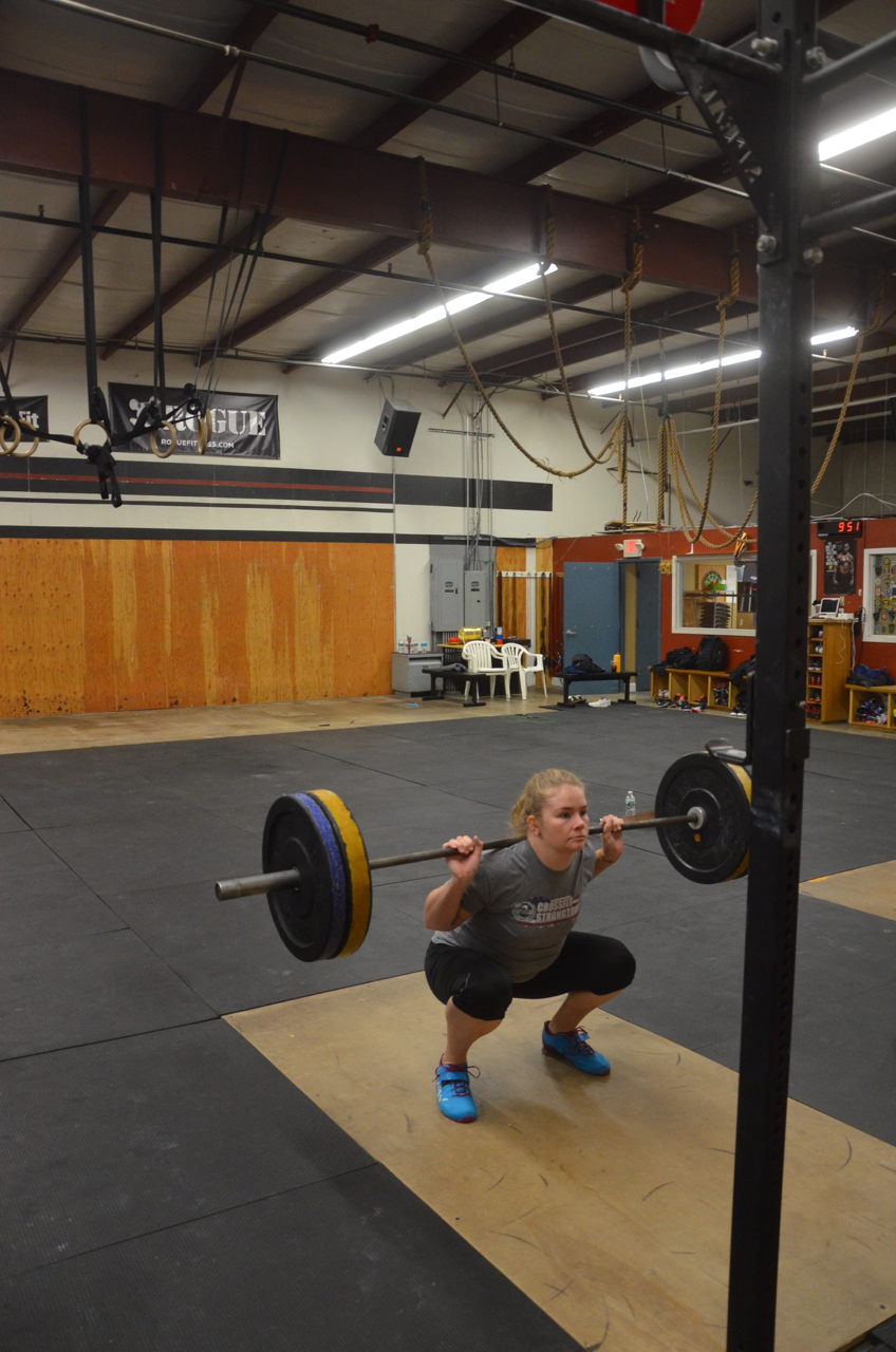 Heidi looking solid on her back squats.