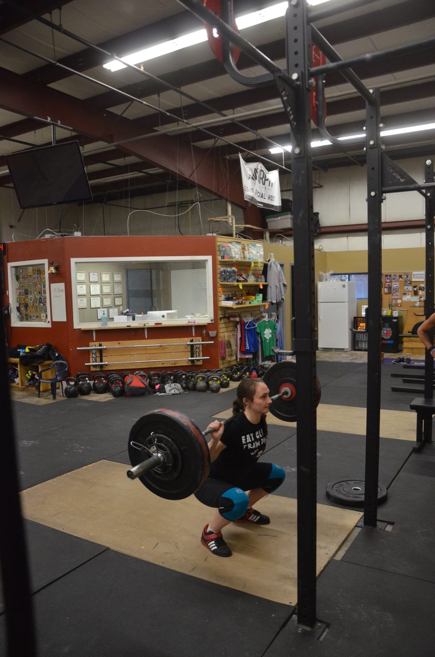 Justina looking strong on her back squats!