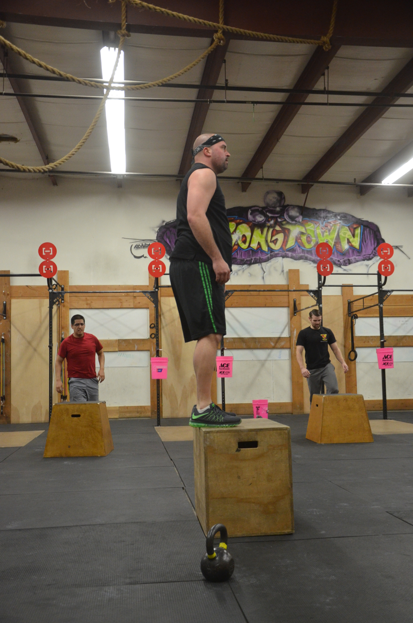 Bair standing tall on his box jumps.