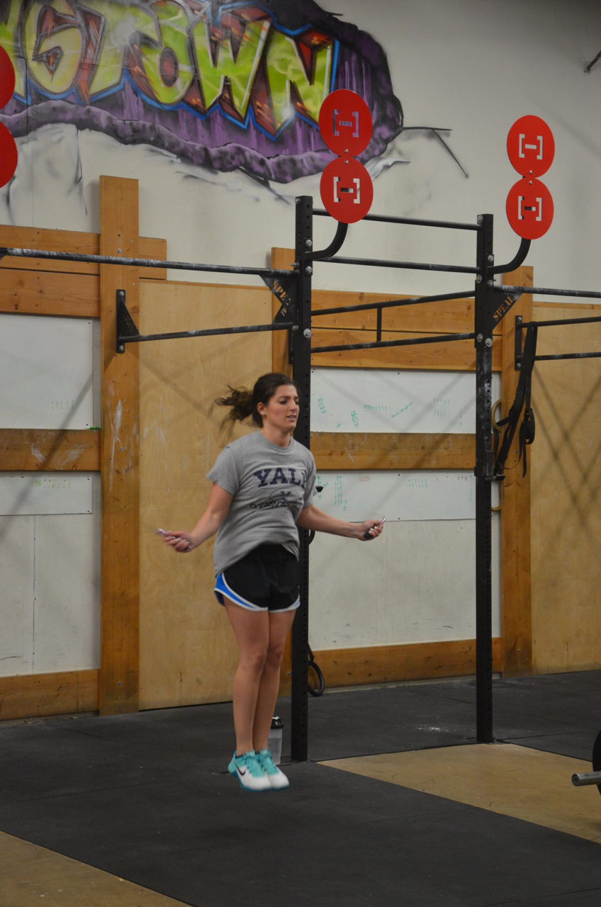 Kim floating through her double unders.