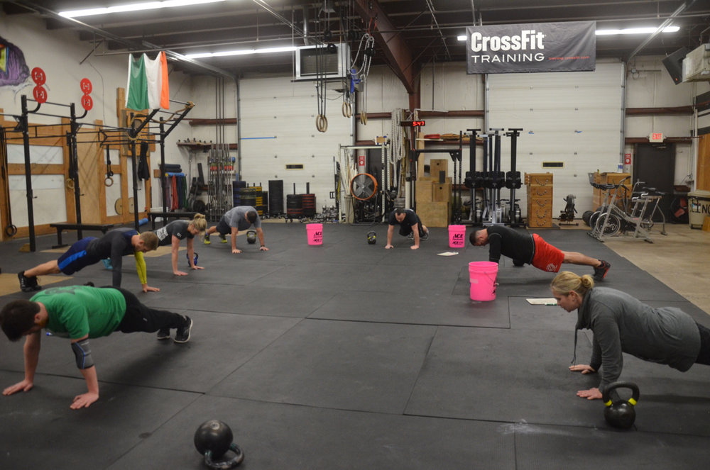 The 5pm class holding their planks.