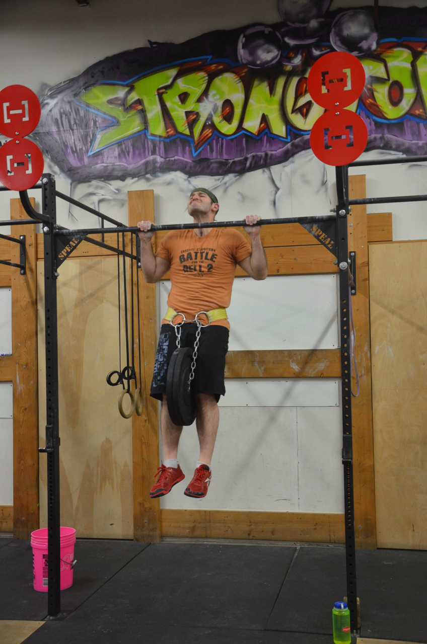 Jim getting great height at the top of his pull-ups