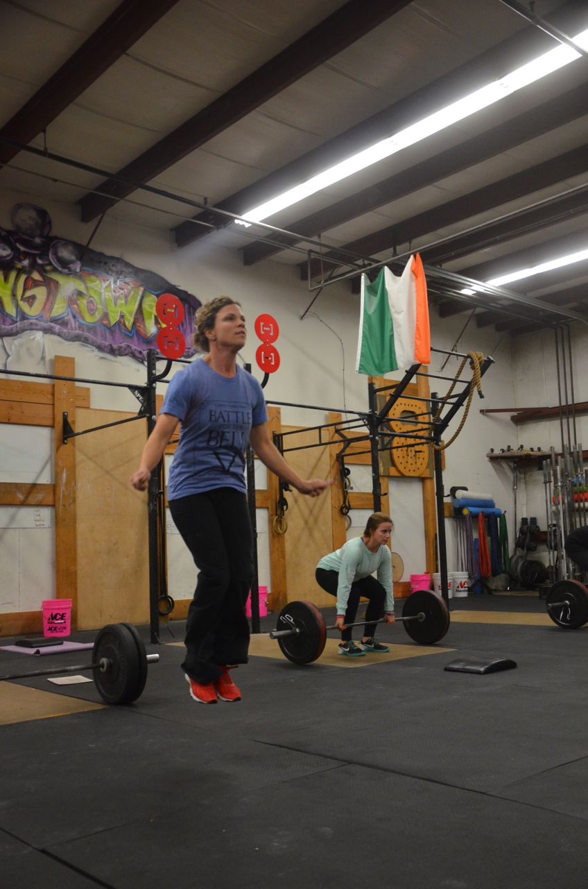 MaryBeth looking strong on her double unders.