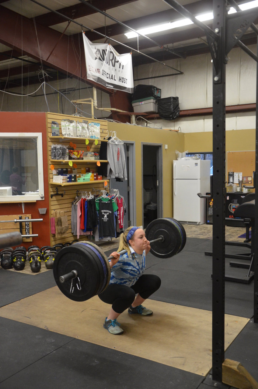Annie looking strong on her squats.