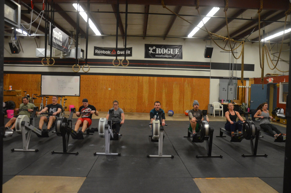 The 9:30 class finishing out their row.