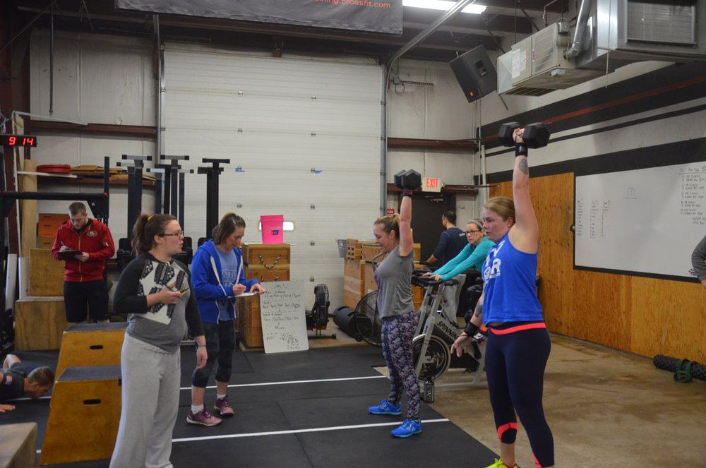 Heidi and Courtney working through their snatches.