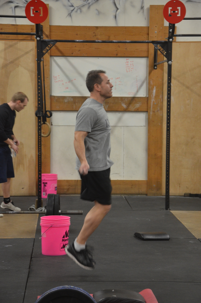 John keeping good form on his double unders.