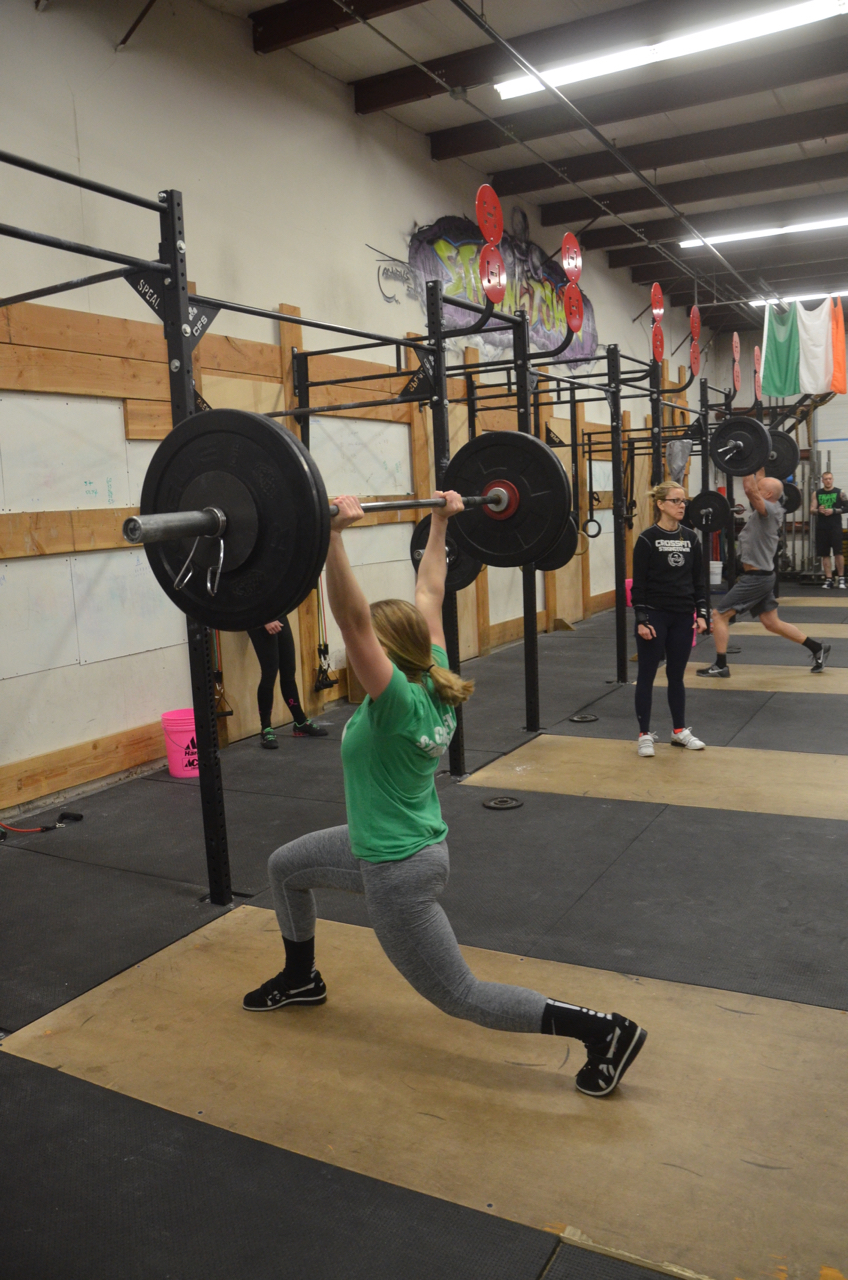 Sophia getting low in her split jerk!