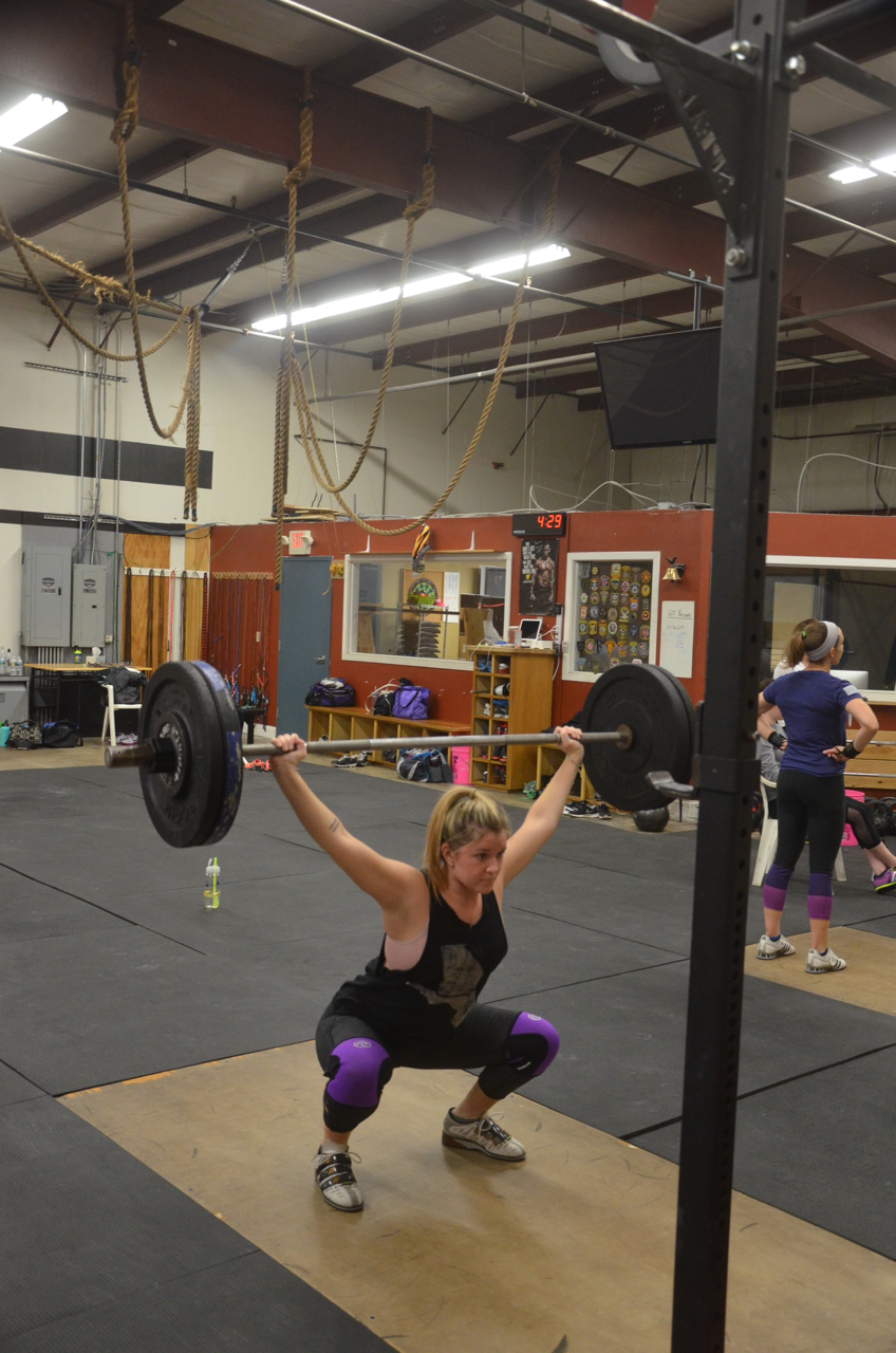 The Maeveinator destroying the overhead squats.
