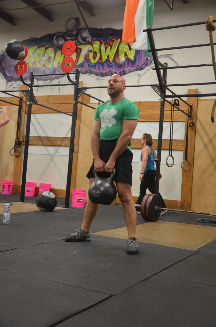 Brian putting the new Kettlebell to use ... for his deadlifts.