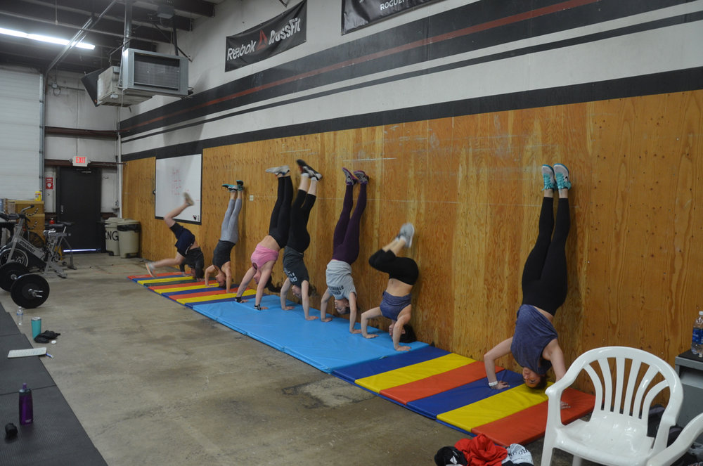 Saturday's 9am class starting their AMRAP.