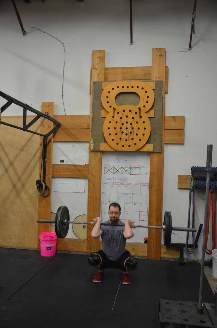 Dan just lifting in the corner doing CrossFit things.