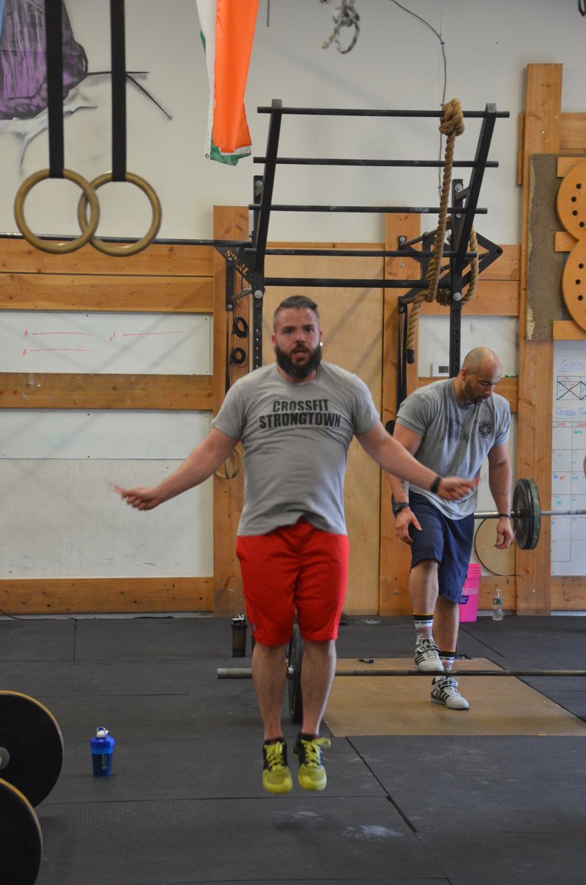 Matty flying through his 24 double unders.