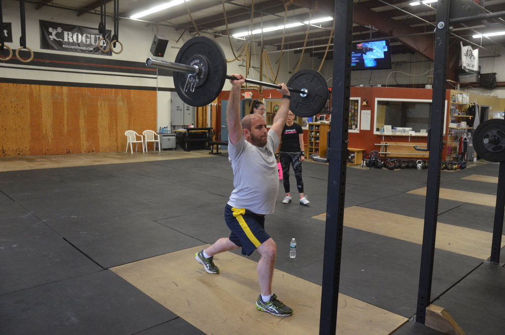 Chaim working on his split jerk.