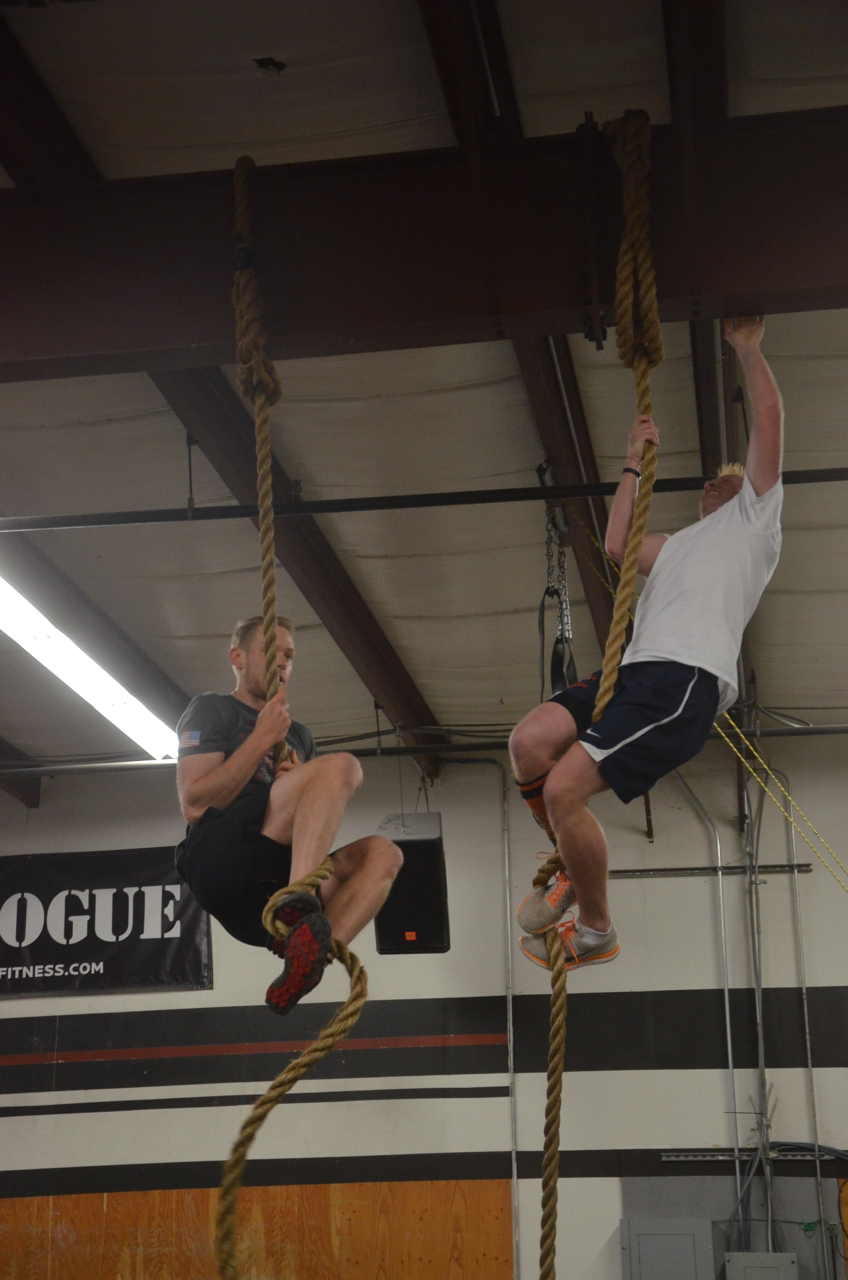 Tanner and Chris flying through their rope climbs.