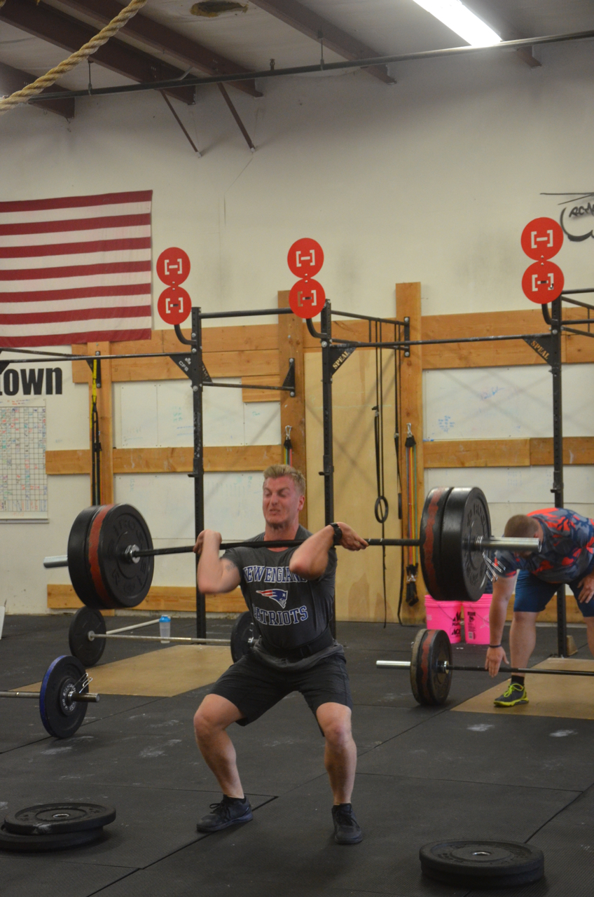 Scotty fighting through his power cleans.