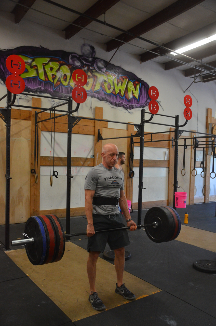 Alan looking strong on his deadlift.