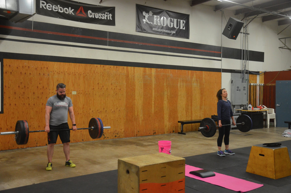 Matty and Deb with some 6am deadlifts