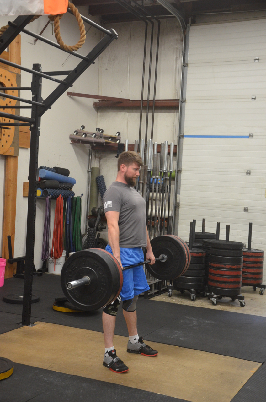 Pauly showing a solid beard and lockout at the top of his deadlift.