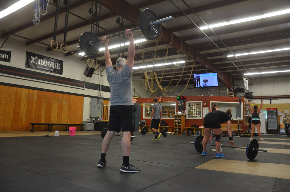 Carl finishing up his final thrusters.