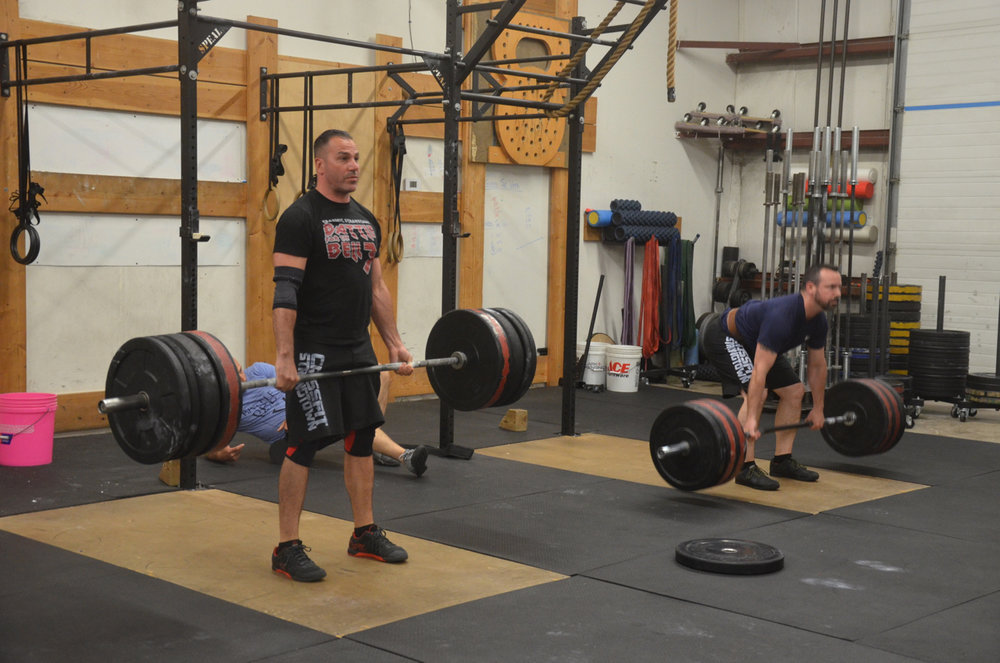 Rob and Tommy working through their deadlifts.