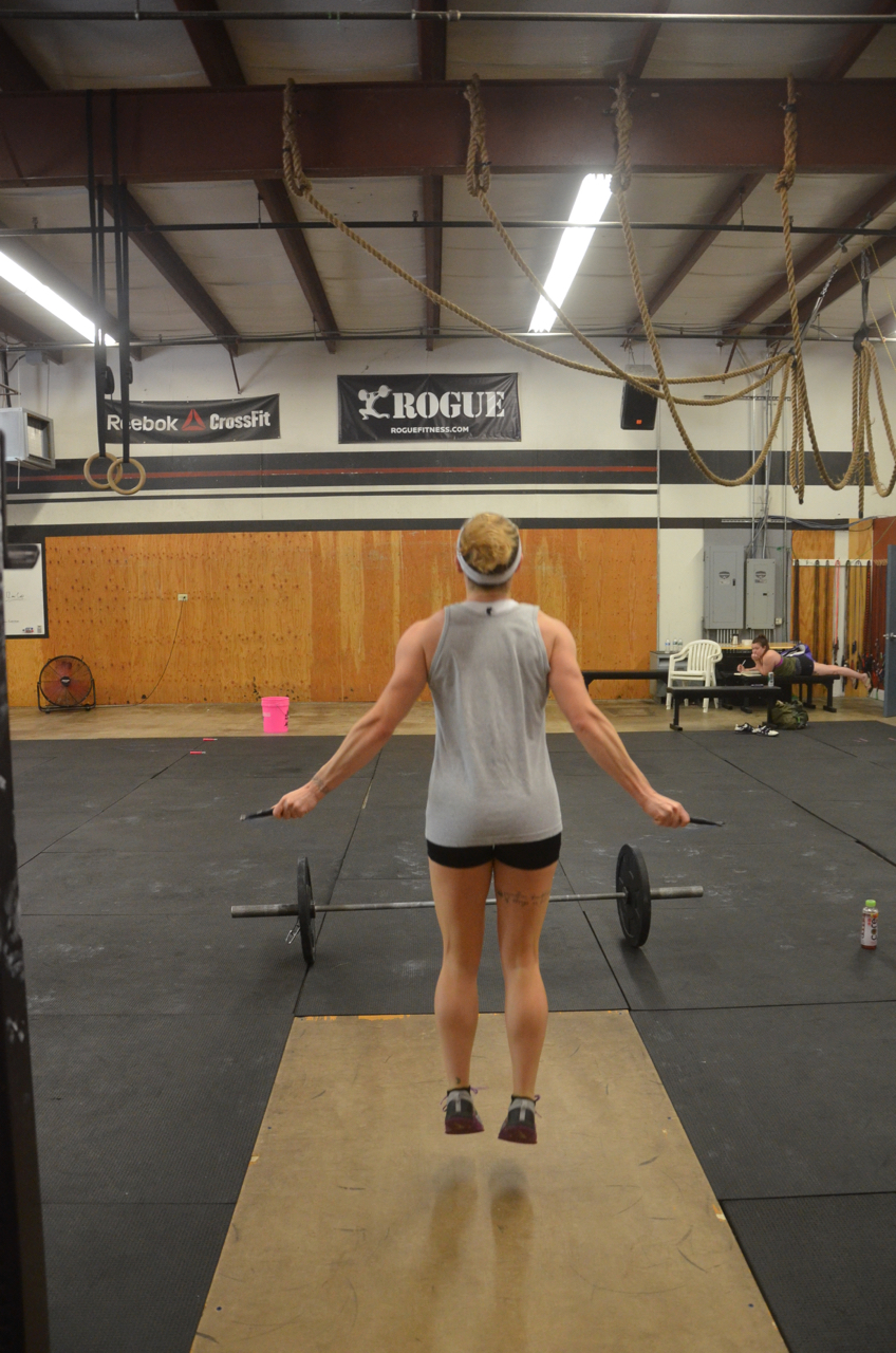 Kelly floating through her double unders.