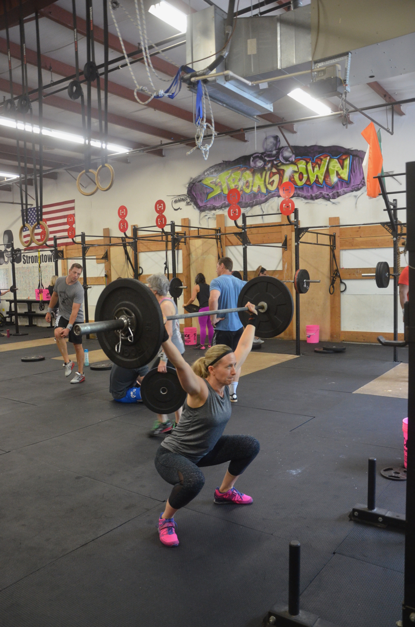 Karen showing great form on her overhead squats.