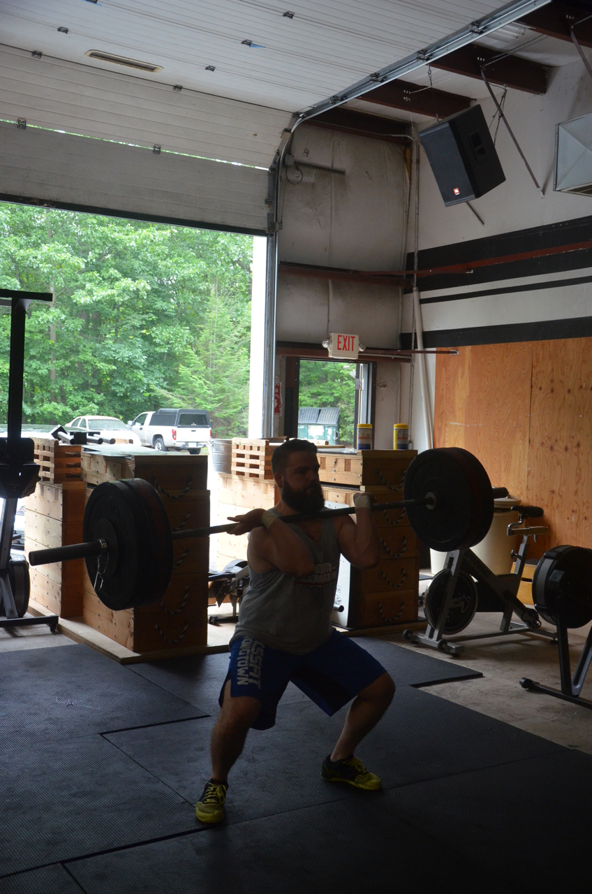 Matty looking strong on Friday's Power Cleans.