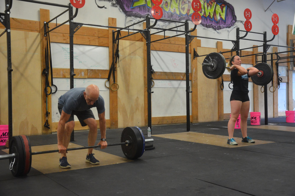 Alan & Annie getting some Father / Daughter power clean time.