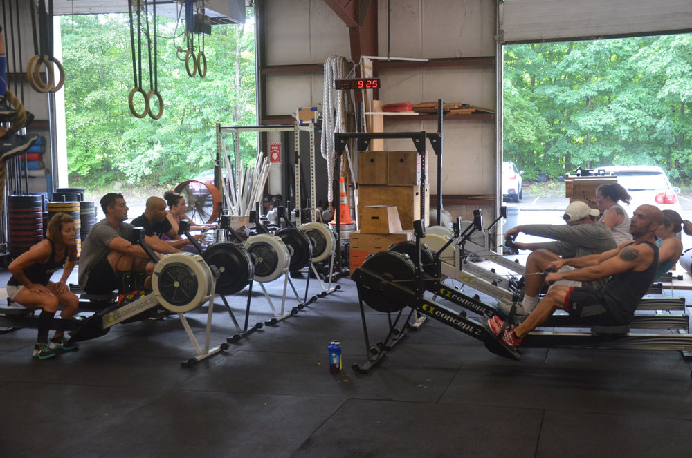Saturday's 9am suffering through one of their seven 15 calorie rows.