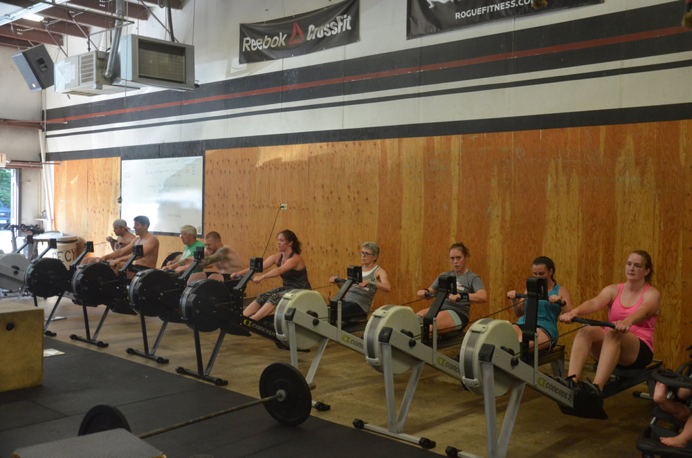 The 9:30 class finishing up their final row.