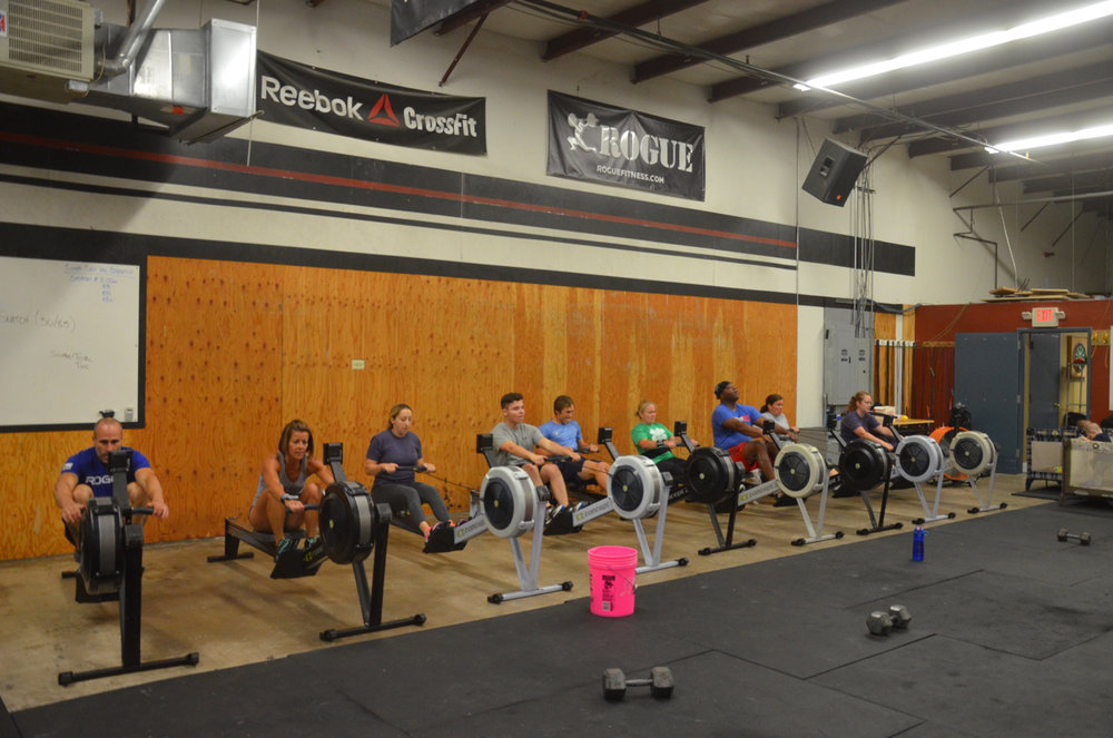 The 9:30 class enjoying their row.