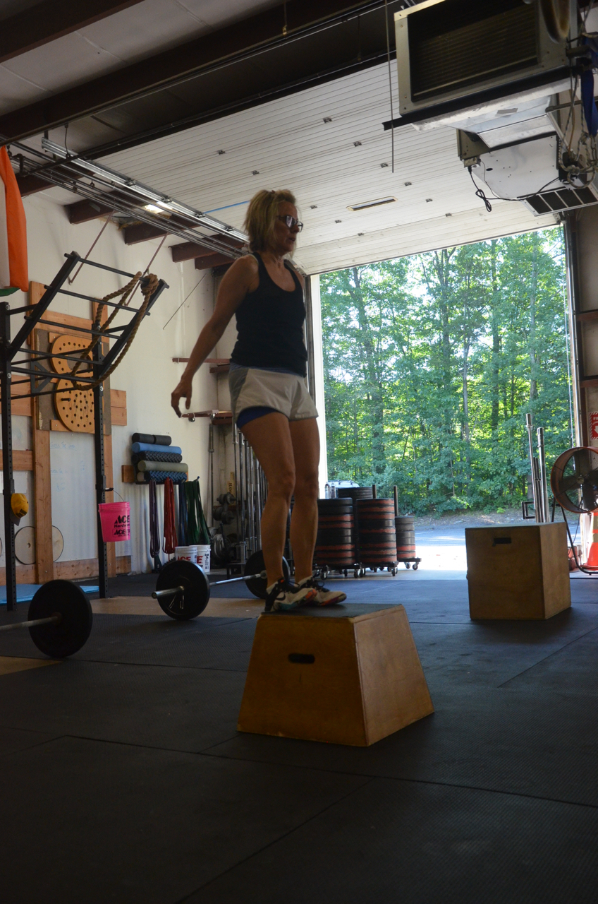 Paula looking confident on her box jumps.