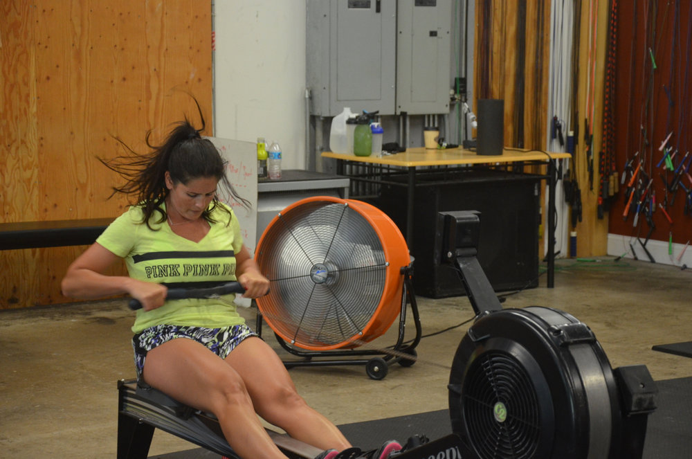 Marissa pulling hard through her rows.