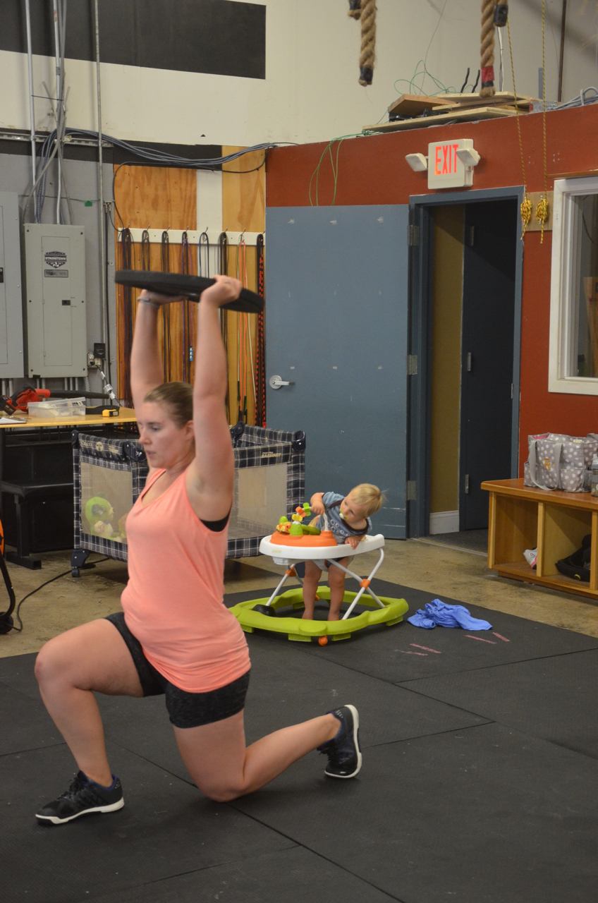 Karin working on her overhead lunges and Mr. Finley working on his escape.