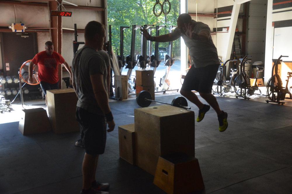 BVN & Rob representing team CSP on their box jumps.