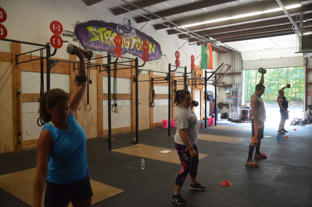 Noon class at the start of the metcon.