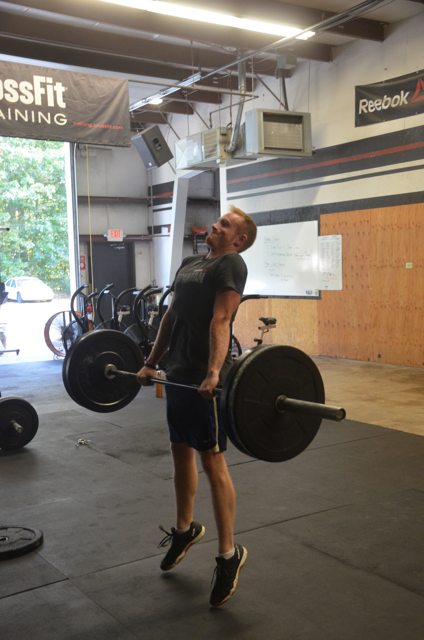 Chris literally getting airborne on his clean pulls.
