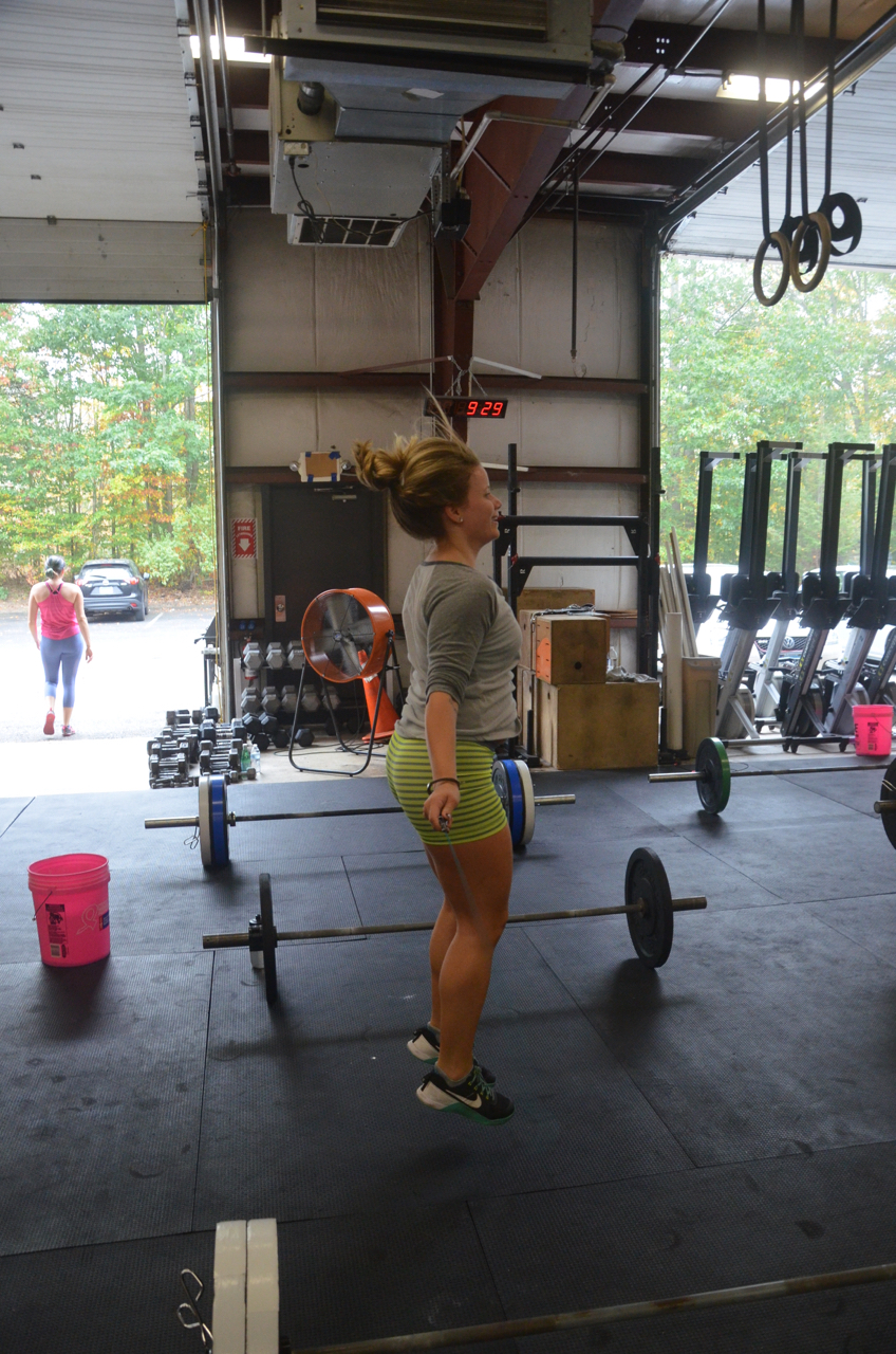 Lu floating through her double unders.