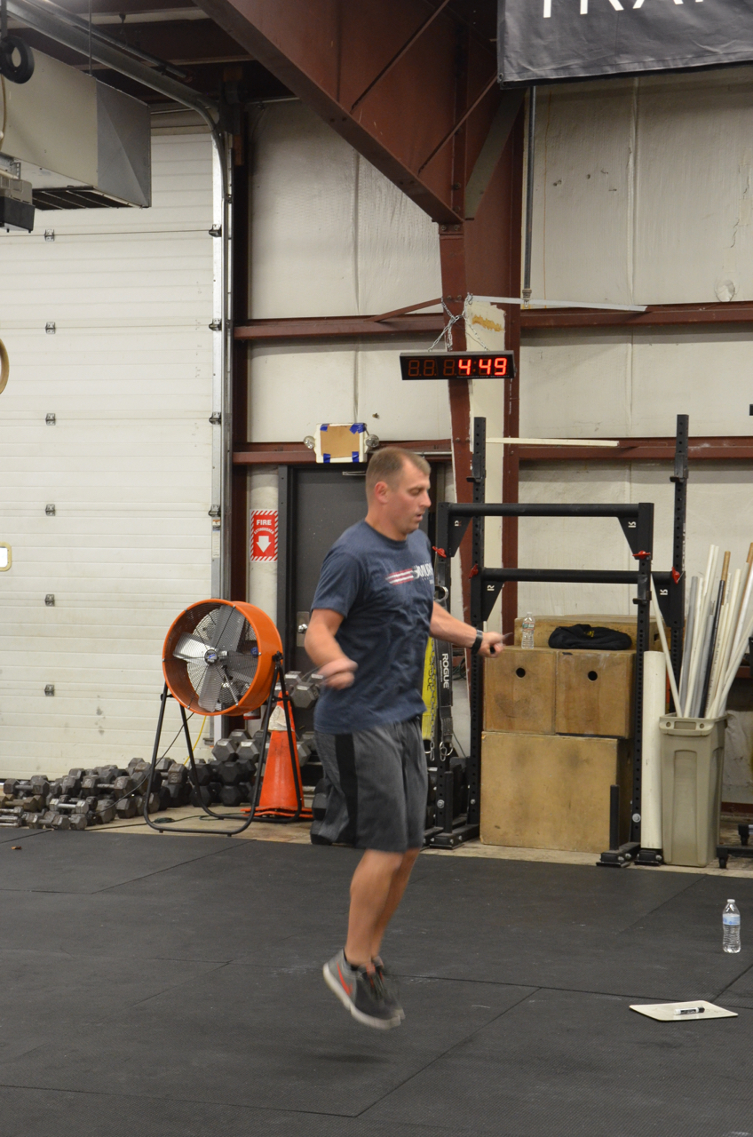Garrett flying through his double unders.