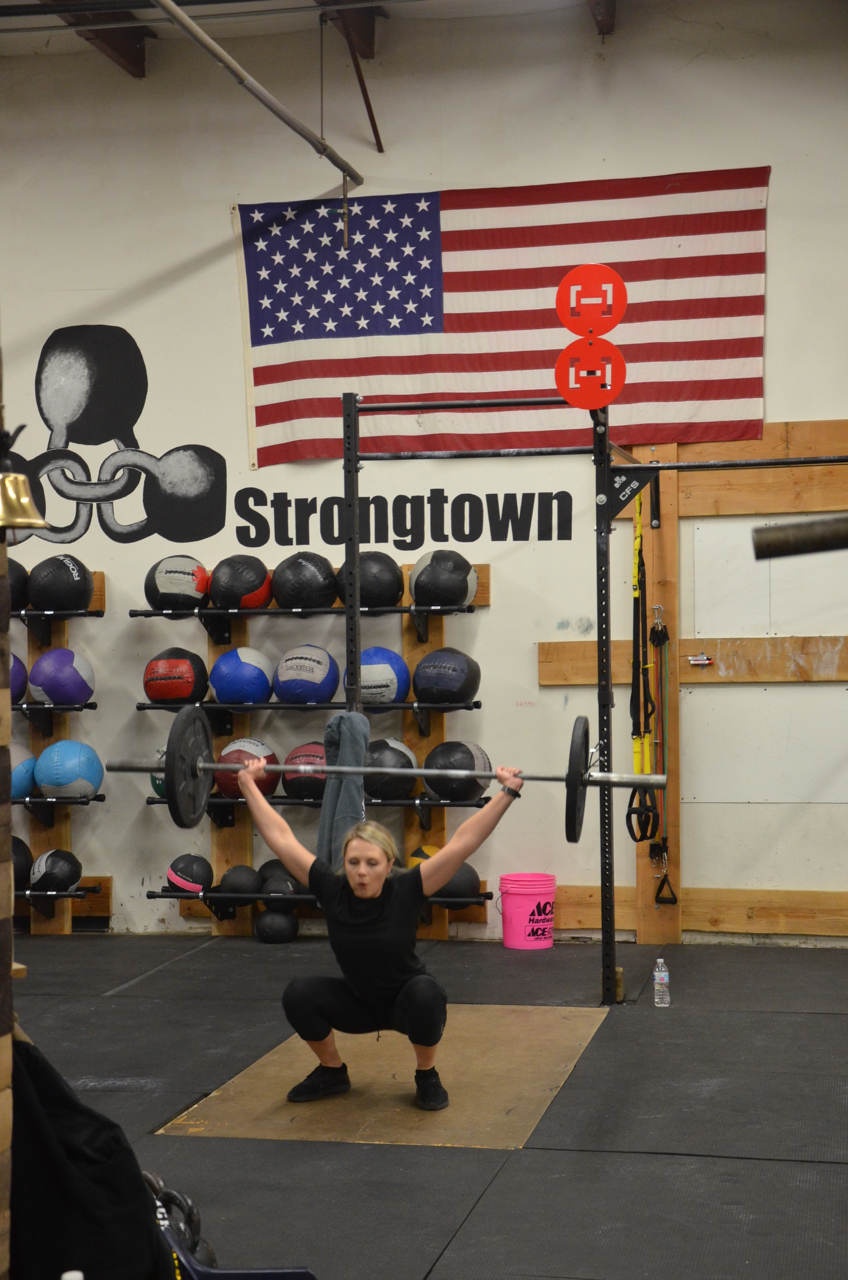Cort at the bottom of the squat snatch.