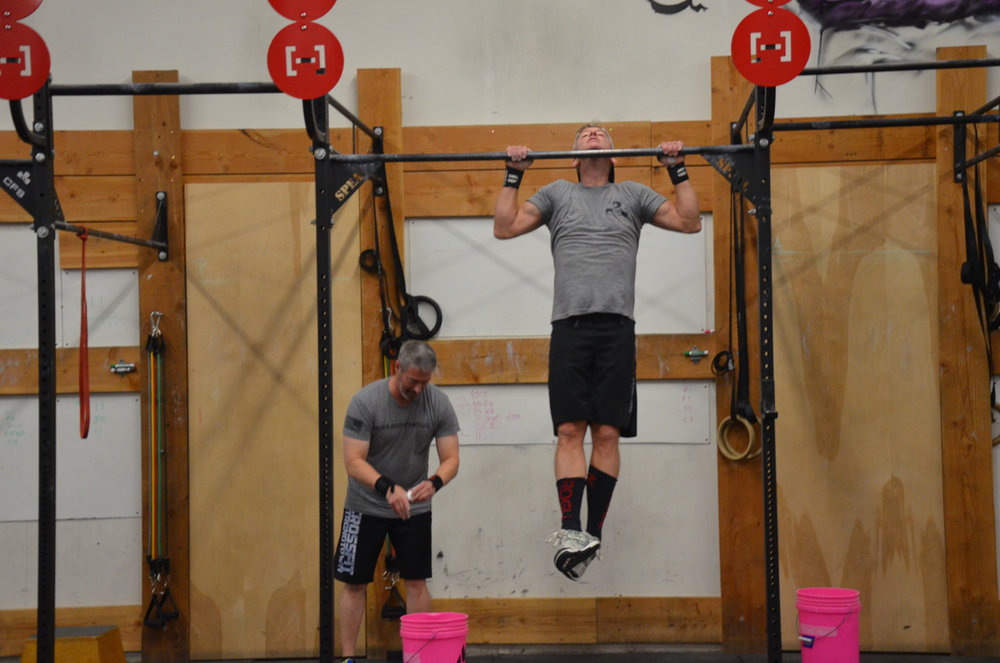 Raff and Patty during Sunday's partner wod.