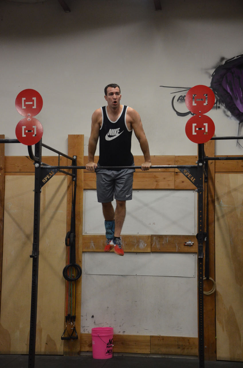 Kyle has never done a bar muscle-up until today's wod.