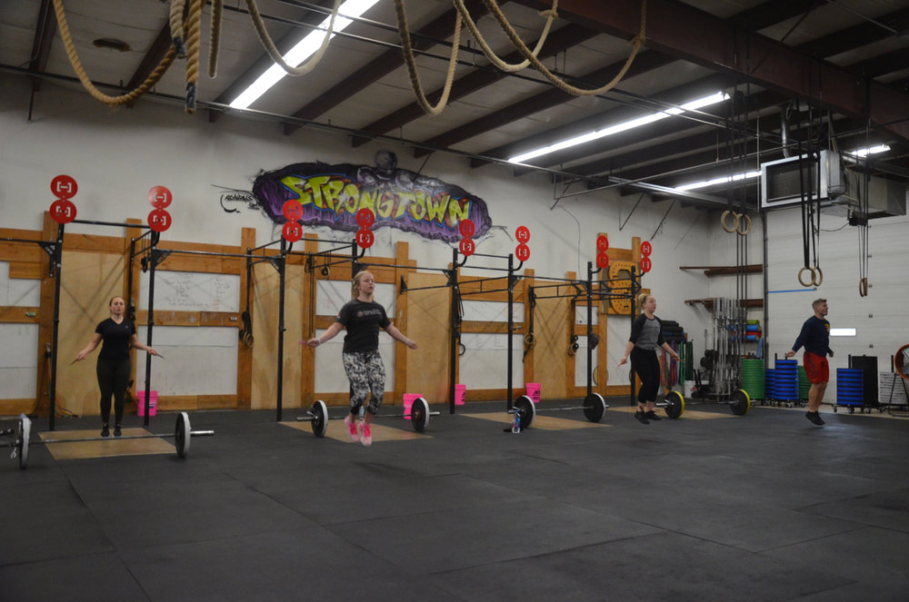Sydney and the 9:30 class flying through their double unders.