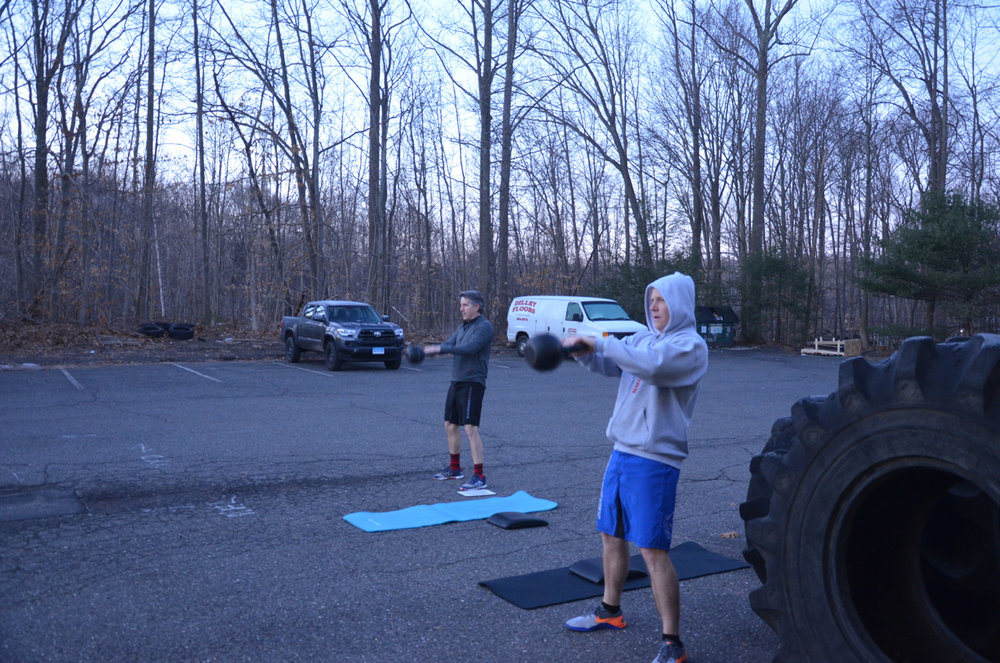 BVN and Bill decided to do the whole workout outside during the 6am class.