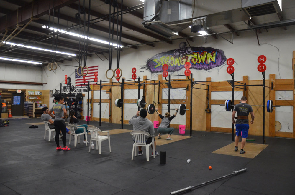 The 6am during their 5x3 overhead squat.