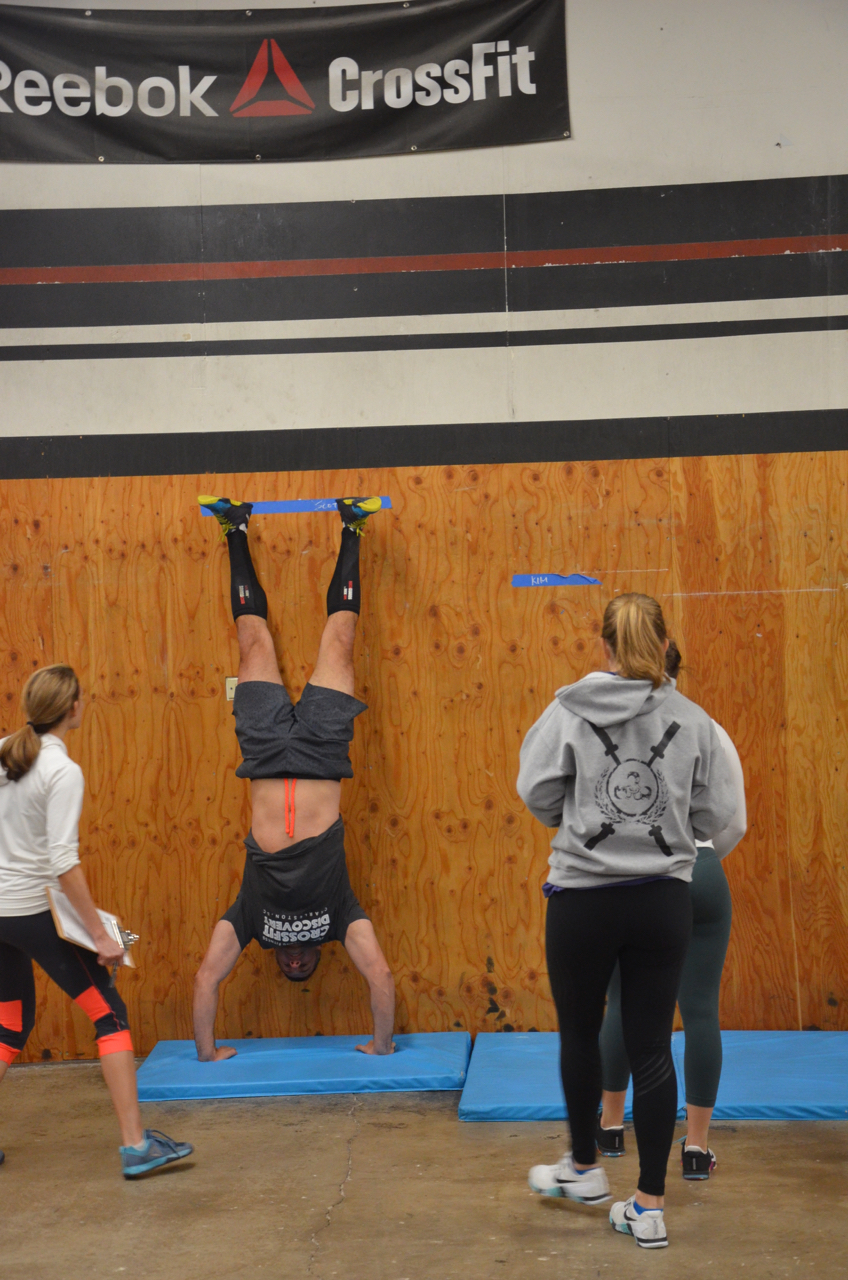 Congrats on getting your first handstand push-up, Scott!