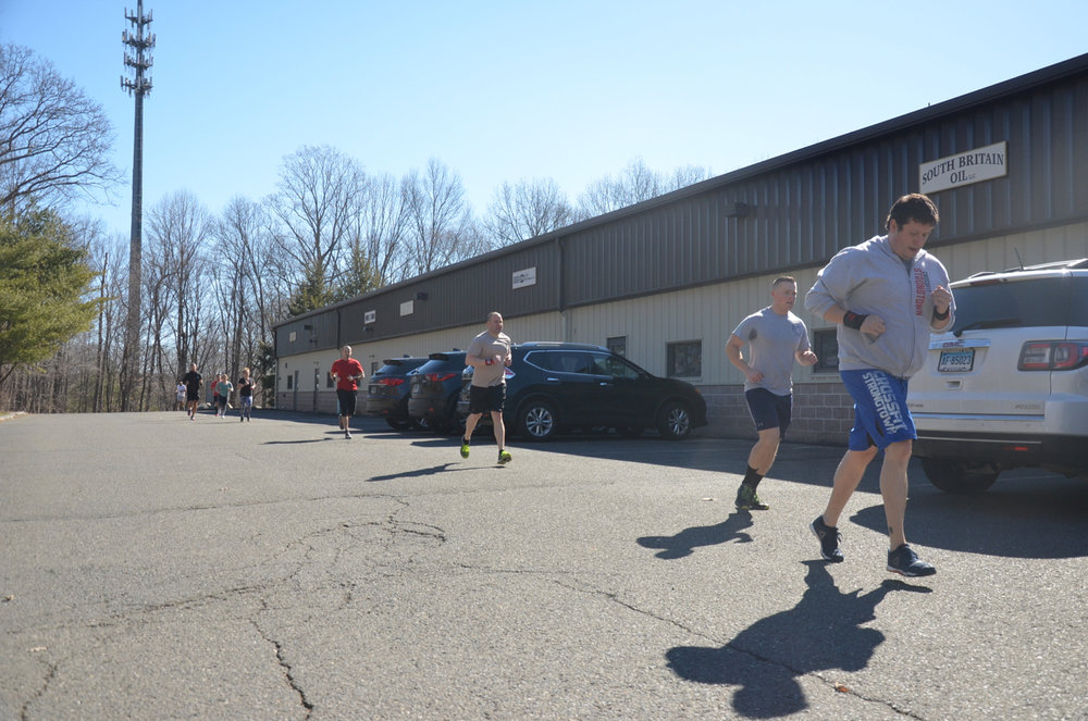 The 10am Saturday class enjoying the nice weather.