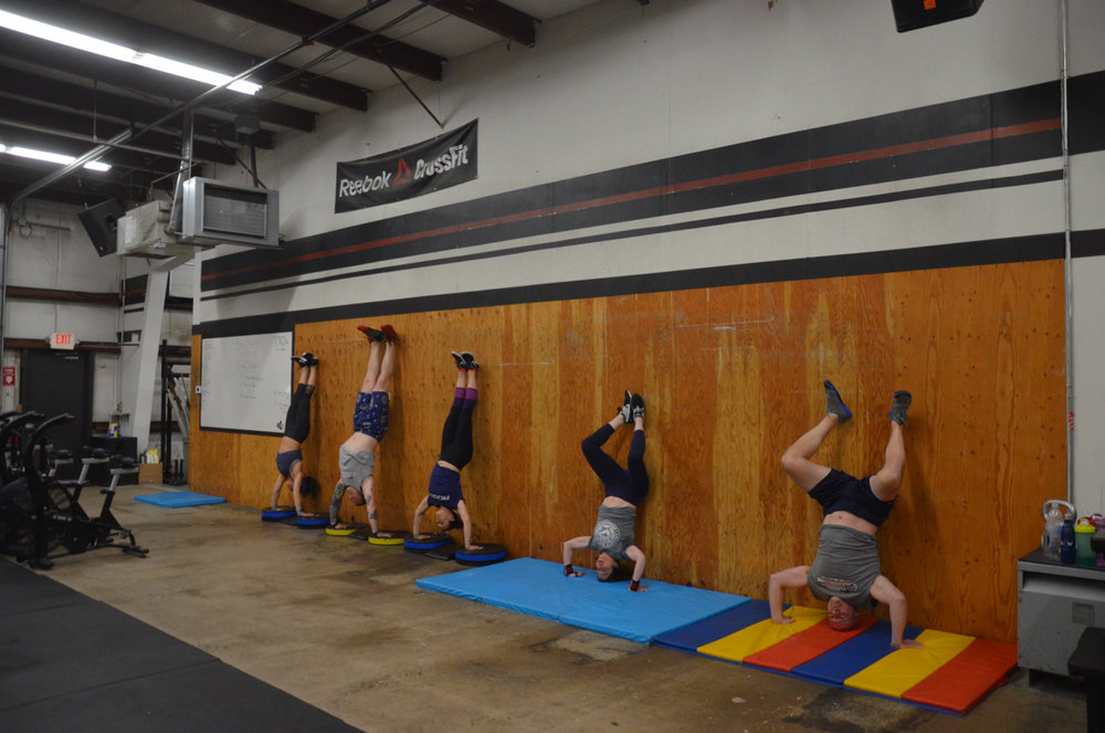 Part of the 4pm class at the beginning of today's workout.